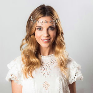 Alice Crystal Hair Vine - grecian wedding styling