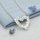 Personalised Silver Forget Me Not Necklace