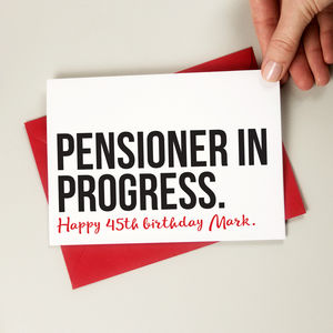 Pensioner In Progress Birthday Card - new in