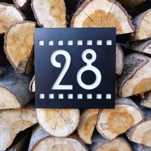Black Mackintosh Style House Number Plaque - home accessories