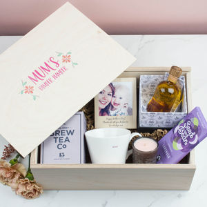 Personalised Mother's Day Wooden Gift Hamper