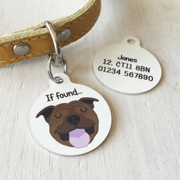 Personalised Dog Breed ID Tag