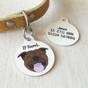 Personalised Dog Breed ID Tag - walking