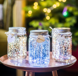 Set Of Three Firefly LED Jars