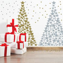 Stars And Hearts Christmas Tree Wall Sticker