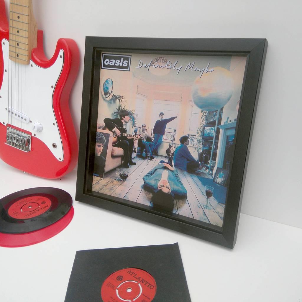 ready framed lp album cover by vinyl village | notonthehighstreet.com
