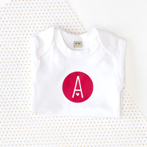 Personalised Letter Baby Bodysuit - babygrows