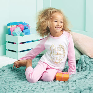 Childs Personalised Christmas Pyjamas - christmas catalogue