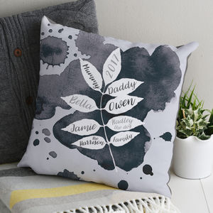 Graphic Family Tree Cushion - gifts for mothers