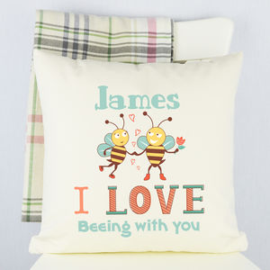 Personalised 'Love Beeing With You' Cushion - new in home