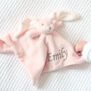 Personalised Super Soft Pink Bunny Comforter
