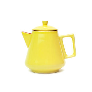 Ceramic Citrus Yellow Teapot