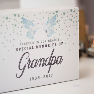 Personalised Memorial Keepsake Box