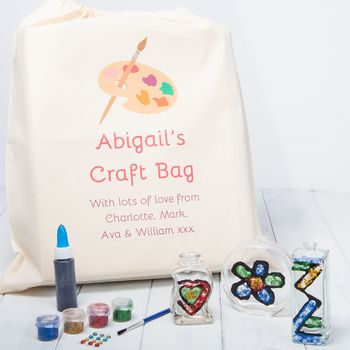 Glass Art Painting Craft Kit With Personalised Gift Bag