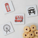 London Skyline Set Of Four Coasters
