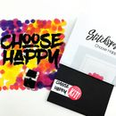 'Choose Happy' Modern Cross Stitch Kit