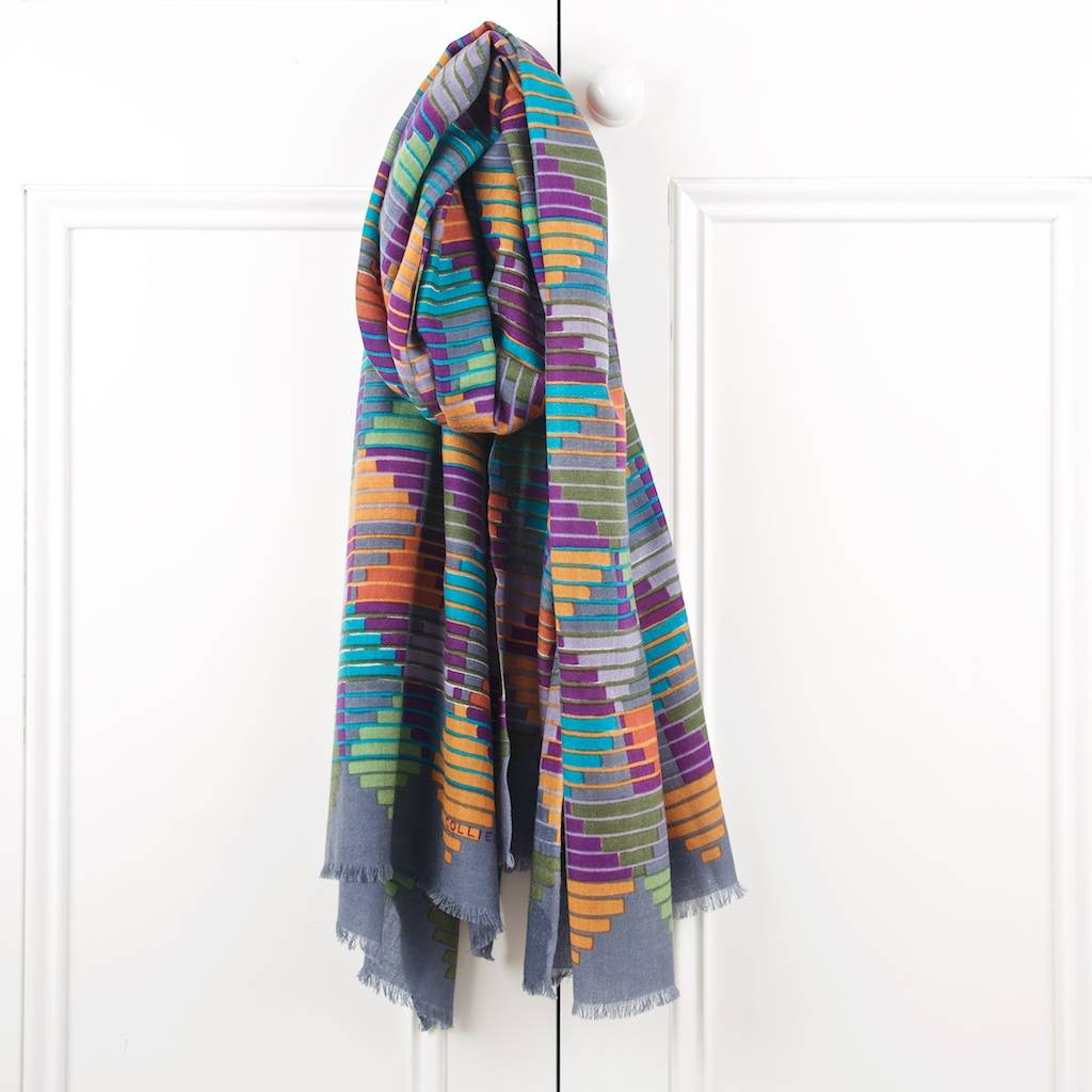 Stepping Stones Wool Scarf
