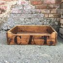 Reclaimed Wooden Cat Bed