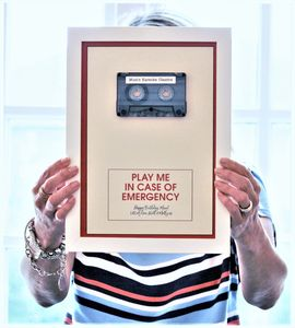 Framed In Case Of Emergency: Personalised Mix Tape - mixed media & collage
