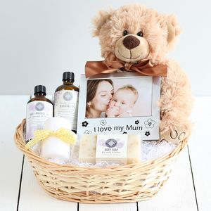 Pamper New Mum & Baby Gift Basket - baby shower gifts