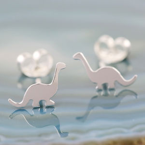 Sterling Silver Dinosaur Stud Earrings - new in jewellery