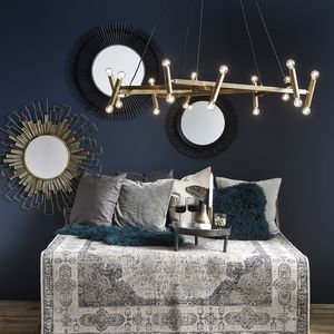 Modern Brass Chandelier - ceiling lights