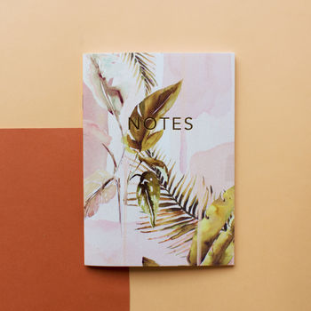 Palm Springs A6 Notebook With Gold Foiling