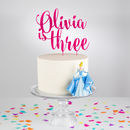 Personalised Acrylic Birthday Age Cake Topper