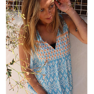 Pacific Islands Sky Bib Nightdress - women's fashion