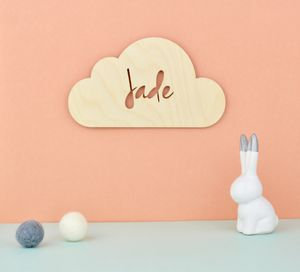 Personalised Nursery Door Sign Or Name Plaque Cloud - personalised