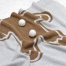 Gingerbread Soft Knit Christmas Baby Blanket