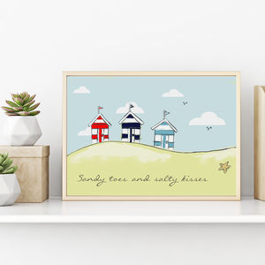 Personalised Beach Hut Print