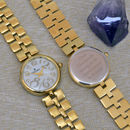 Gold Personalised Ladies Wrist Watch