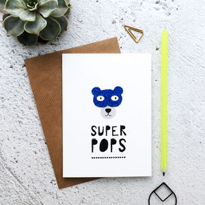Super Pops Glitter Card - father's day cards
