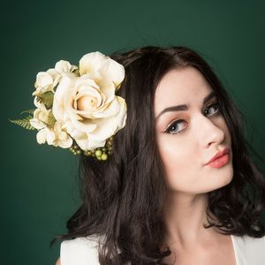 Ivory Berries Floral Fascinator