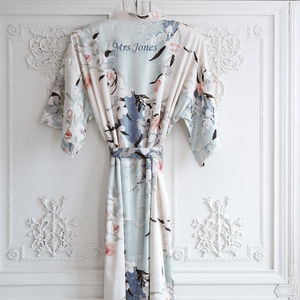 Personalised Bridal Blossom Dressing Gown - wedding fashion