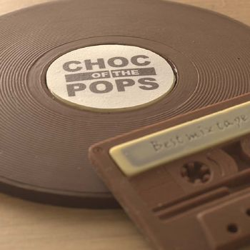 Choc Of The Pops Chocolate Vinyl Record And Cassette