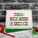 Personalised Christmas Card For Children