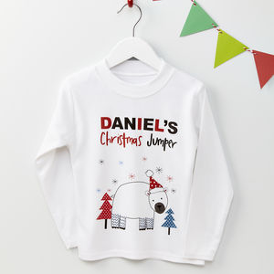Personalised Christmas Polar Bear Jumper