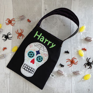 Personalised Skull Halloween Bag