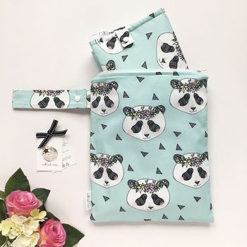 Panda Nappy Changing Gift Set