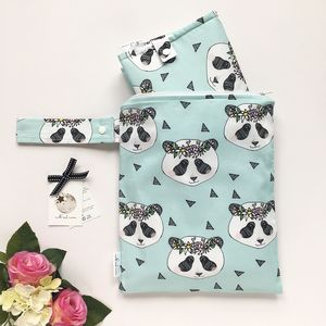 Panda Nappy Changing Gift Set - baby changing