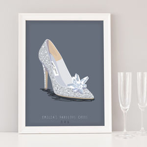 First Wedding Anniversary Gift For Wife, Wedding Shoe - personalised
