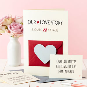 'Our Love Story' Secret Messages Card - valentine's cards