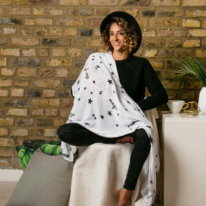 Contemporary Organic Lucky Stars Baby Muslin For Mum