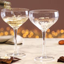 Set Of Two Celebration Ribbed Champagne Saucers