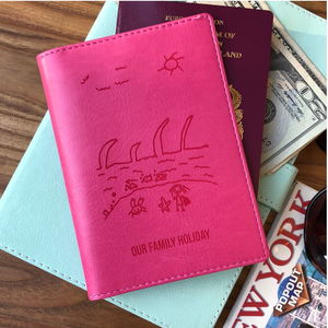 Passport Cover Personalised With Child's Drawing - for mothers