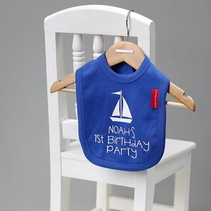 First Birthday Personalised Bib