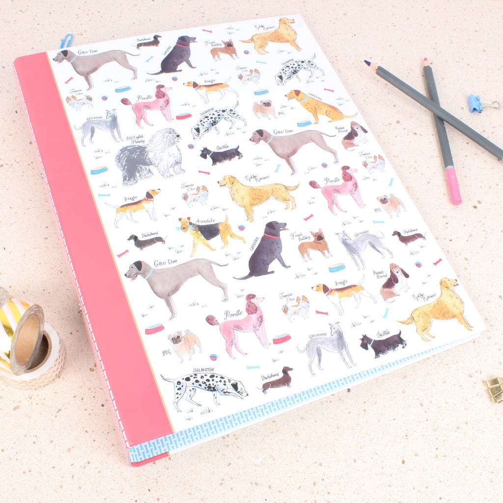 Debonair Dogs Ring Binder by Milly Green