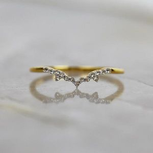 14k Gold Vermeil Milky Way Diamond Ring - rings
